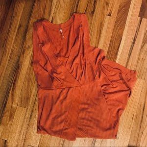 Free People Orange Maxi Dress